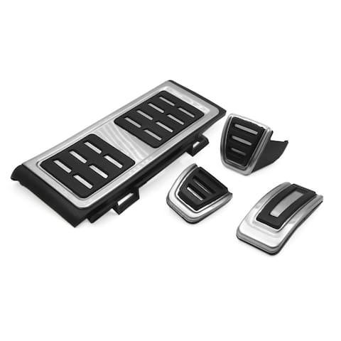 4Pcs Accelerator Brake Clutch Foot Footrest Rest Pedals Pad Kit for Volkswagen