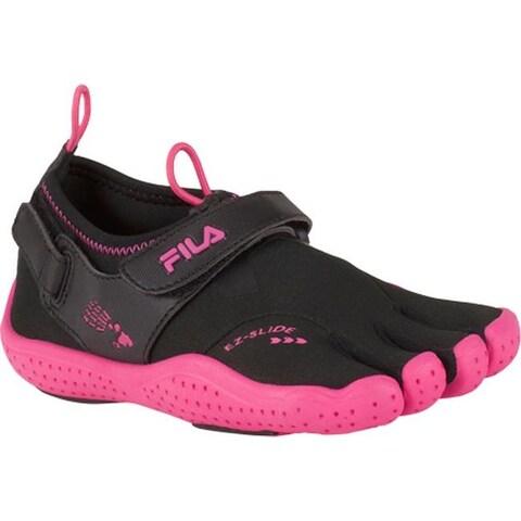 Fila Children's Skele-Toes EZ Slide Drainage Black/Hot Pink
