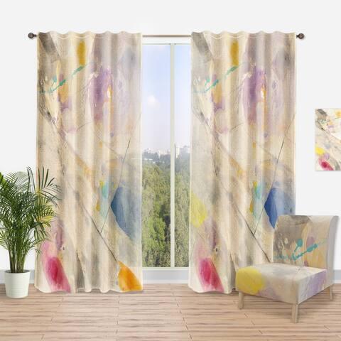 Designart 'Spring Minimalist Confetti I' Modern Curtain Panel