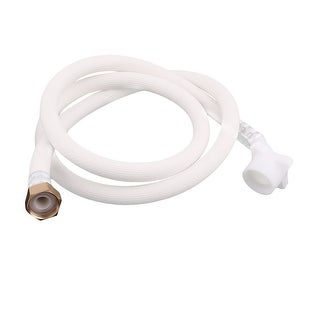 Washing Machine PVC Inlet Hose Washer Pipe Connector White 6.6Ft Length