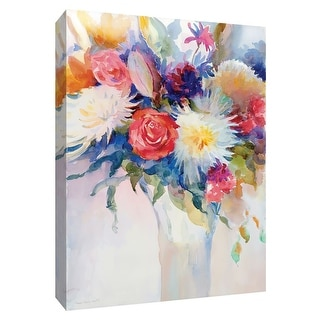 """PTM Images 9-148484  PTM Canvas Collection 10"""" x 8"""" - """"Impromptu Party II"""" Giclee Flowers Art Print on Canvas"""