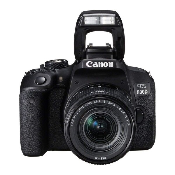 Canon EOS 800D Digital SLR with 18-55 IS STM Lens Black (Intl Model)