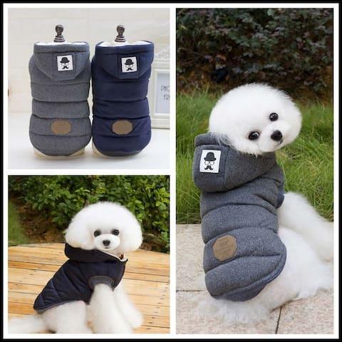 Apparel Dog Clothes Pet Coats Pet Jackets Winter Coat Grey (S-5XL)
