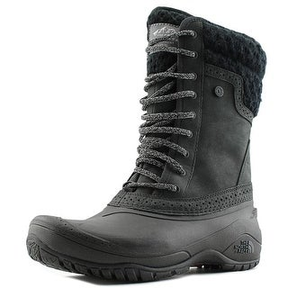 The North Face Shellista II Mid Women  Round Toe Leather Black Snow Boot