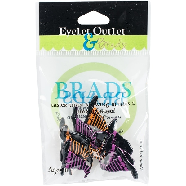 Eyelet Outlet Shape Brads 12/Pkg-Witch Hats