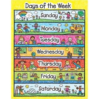 Chart Days Of The Week Kid Drawn