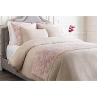 Dusty Rose Pink and Cool Gray Elegant Blossom Dreams Linen Decorative Runner