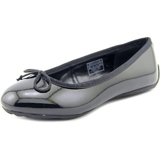 Ralph Lauren Allie Youth Round Toe Synthetic Black Flats