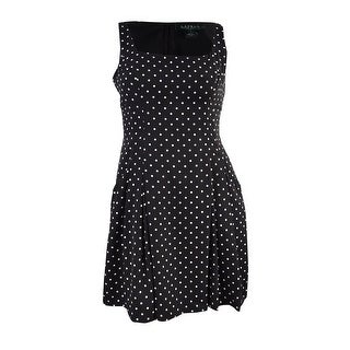 Lauren Ralph Lauren Women's Polka Dot Pocket Dress