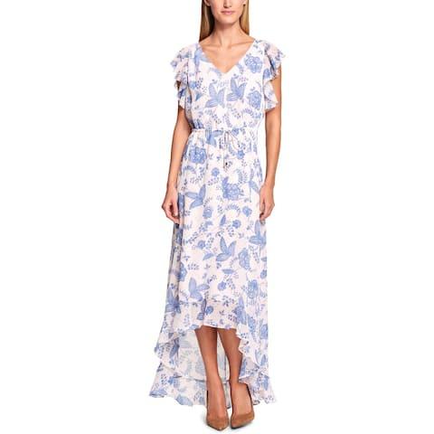 04d94f17d8 Tommy Hilfiger Womens Maxi Dress High Low Floral Print