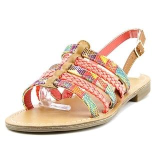 Pink & Pepper Hippie Women Open-Toe Canvas Multi Color Slingback Sandal