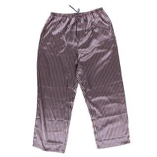 Alexander Del Rossa Mens Satin Striped Sleep Pant - L