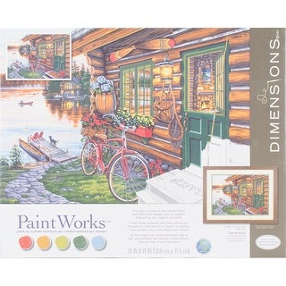 "Paint Works Paint By Number Kit 20""X14""-Cabin View"