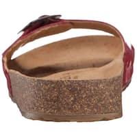 Haflinger Womens Bio Gina Open Toe Casual Slide Sandals