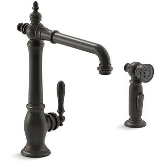 Kohler K-99265 Artifacts High Arc Spout Kitchen Faucet with ProMotion Technology - Includes Side Spray - n/a