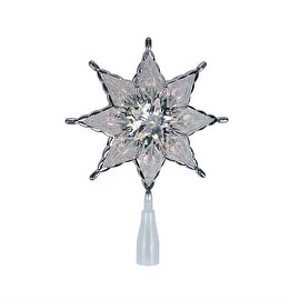 """8"""" Lighted 8-Point Star Christmas Tree Topper Decoration - Clear Lights"""