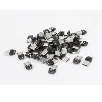 60 Pcs Micro USB Type-B 5pin Male Plug Soldering Connector Adapter