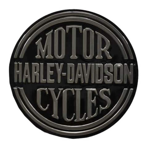 Harley-Davidson Embossed H-D Platinum Disc Round Tin Sign, Black 2010701 - 14""
