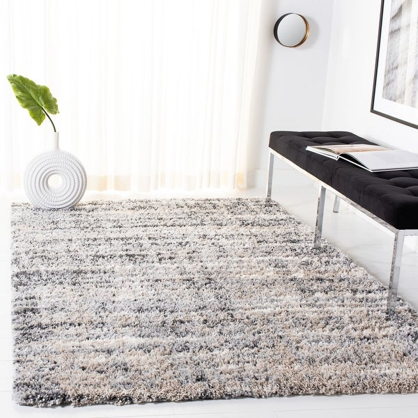 Safavieh Fontana Shag Geanina Modern Abstract 2-inch Thick Rug. Opens flyout.