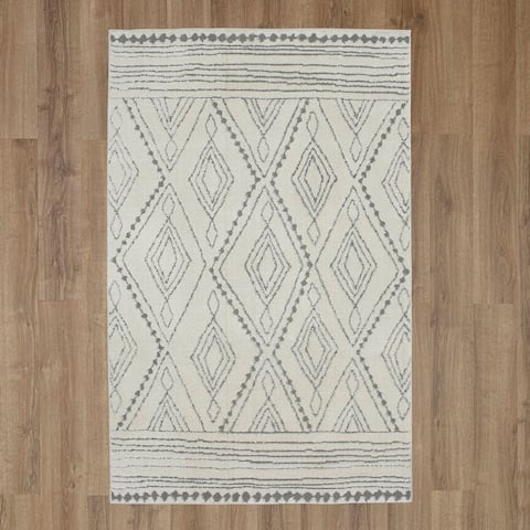 Mohawk Home Nomad Vado High/Low Boho Tribal Geometric Area Rug