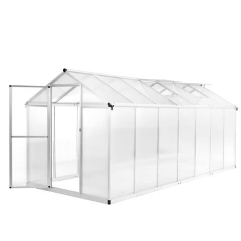 """vidaXL Greenhouse Aluminium 165.7""""x74.8""""x76.8"""" 550.9ft³"""