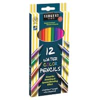 Sargent Art Non-Toxic Watercolor Pencil, 7 in L, Assorted Color, Pack of 12