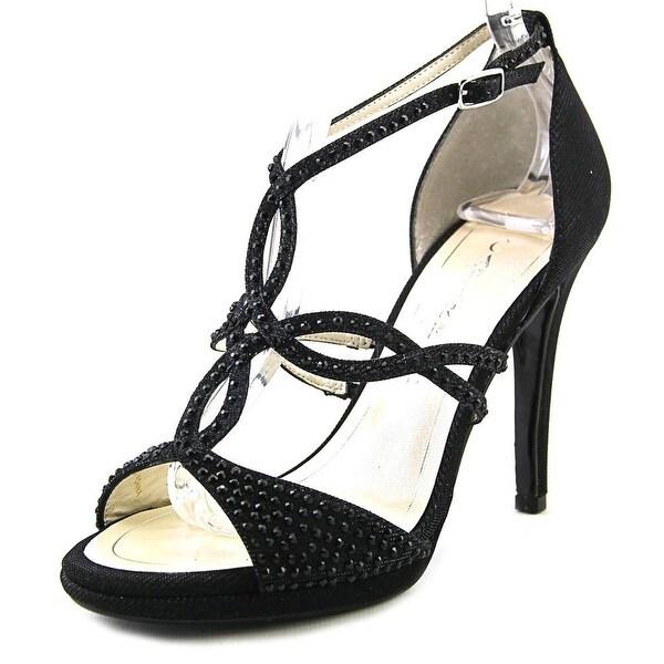 Caparros Nixie Women Open Toe Canvas Black Sandals