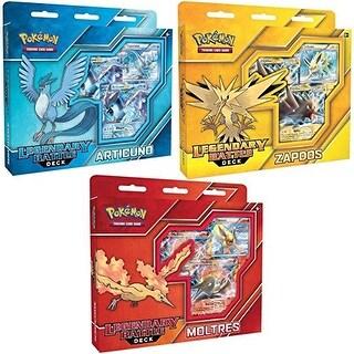 Pokemon Articuno EX, Zapdos EX & Moltres EX Set of 3 Legendary Battle Decks
