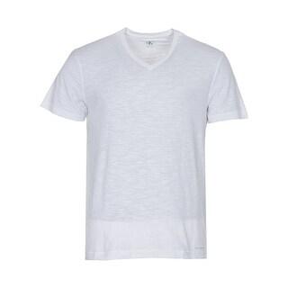 Calvin Klein Jeans Cotton Slub V-Neck T-Shirt Bright White X-Large