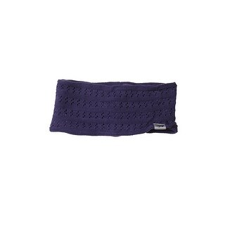 Ideology Dark Purple Knitted Headband OS