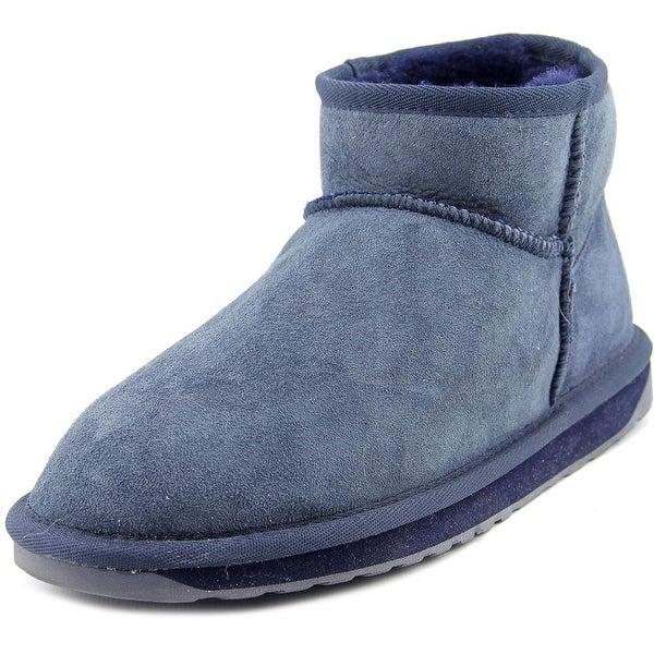 Emu Australia Stinger Micro Women Round Toe Suede Blue Winter Boot