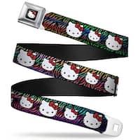 Hello Kitty W Red Bow Full Color Black Hello Kitty Multi Faces Zebra Black Seatbelt Belt