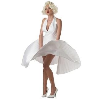 Marilyn Monroe Deluxe White Halter Dress
