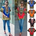 Unisex Ethnic Print Womens Plus Size Summer Casual Loose Short Sleeve Blouse Kaftan Tops T-shirt - Thumbnail 2