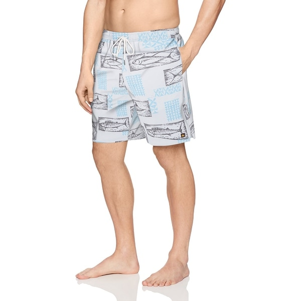 3c22149c63 Shop Quiksilver Blue Mens Size Small S Drawstring Trunks Swimwear - Free  Shipping On Orders Over $45 - Overstock - 21805371