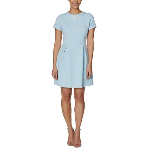 Betsey Johnson Womens Cocktail Dress Embellished Pleated - Ice Ice Baby