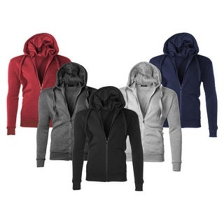 Men's Moisture Wicking Fleece-Lined Full-Zip Up Hoodie