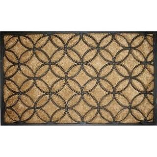 Home & More 10017 Coir & Rubber Circles Doormat