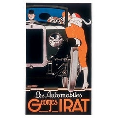 ''Les Automobiles Georges Irat'' by Rene Vincent Vintage Advertising Art Print (36 x 22 in.)