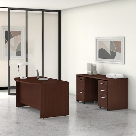 Studio C 60W Desk Set with File Cabinets by Bush Business Furniture