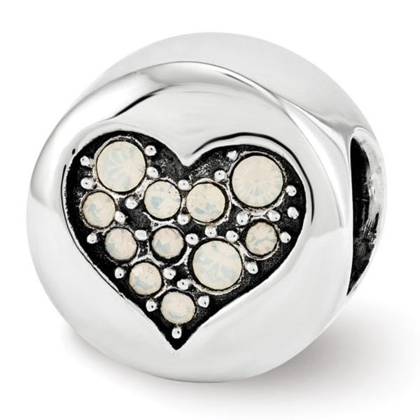 Sterling Silver Reflections Swarovski Elements June-Clarity Bead (4mm Diameter Hole)