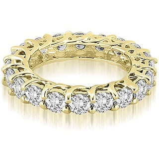 3.30 cttw. 14K Yellow Gold Round Diamond Eternity Ring