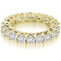 14K White Gold Lucida 3.30 cttw. Round Cut Diamond Eternity Wedding Ring HI, SI1-2