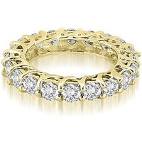 14K Yellow Gold 3.30 cttw. Round Diamond Eternity Ring HI,SI1-2