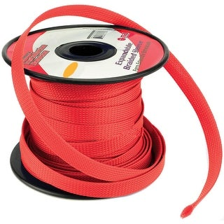 """Installation Solution Expandable Braided Sleeve Red 3/8"""""""