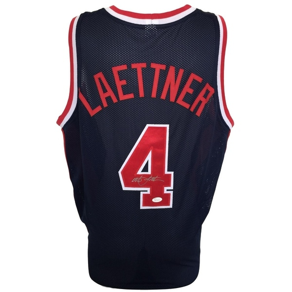 6c29aa095e4 Shop Christian Laettner Signed Custom Blue Olympic Basketball Jersey JSA  ITP - Free Shipping Today - Overstock - 22411042
