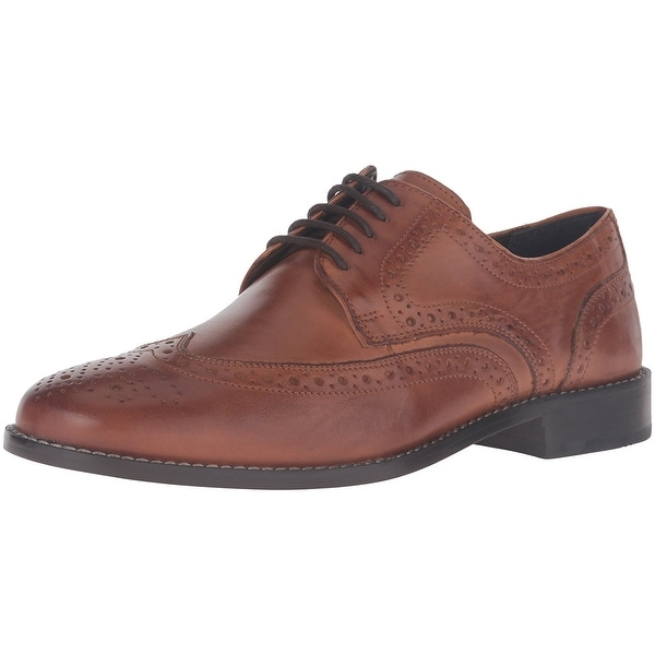 Nunn Bush Men Nelson Wingtip Oxford Shoes - Cognac - 11.5 d(m) us