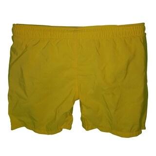 Big Boys Yellow Elasticated Waist Swimwear Shorts