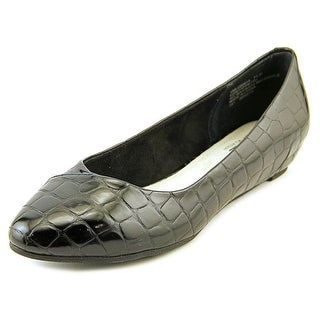 White Mountain Petto Women Pointed Toe Synthetic Black Flats