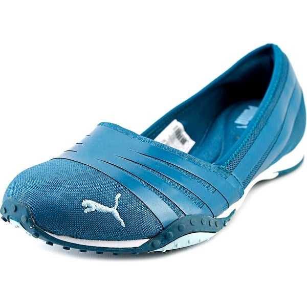 Puma Asha Alt 2 Shine Women Round Toe Canvas Blue Walking Shoe